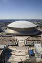 Superdome new orleans louisiana aerial view of mercedes benz also known as located in the business district in downtown Stock Images