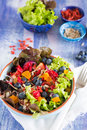 Superfood salad super healthy with goji berries apricots and blueberries Stock Images