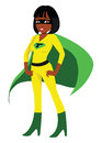 Superhero black female Stock Image