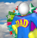 Superhero dad super hero father costume a stands ready to do great parenting in raising children as a and figure Royalty Free Stock Photos