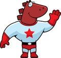 Superhero Dinosaur Royalty Free Stock Photo