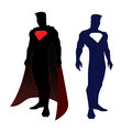 Superhero figure vector illustration of super hero in silhouette Stock Image