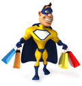 Superhero fun ready to save the world Stock Image