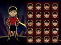 Superhero Girl Cartoon Emotion faces Vector Illustration Royalty Free Stock Photo