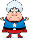 Superhero Grandma Angry Royalty Free Stock Photography
