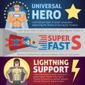 Superhero Horizontal Banners