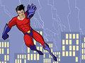 Superhero illustration of a mighty in bright costume Royalty Free Stock Photo