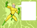 Superhero illustration of a mighty in bright costume Stock Images