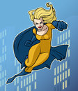 Superhero illustration of a mighty in bright costume Royalty Free Stock Photos