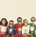 Superhero Kids Power Fun Enjoyment Concept Royalty Free Stock Photo