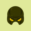 SuperHero mask snake. Reptile protective mask for person. Vector