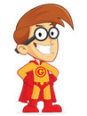 Superhero nerd geek clipart picture of a cartoon character Royalty Free Stock Image