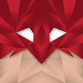 Superhero polygonal abstract a masked is featured in a illustration Stock Image