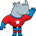 Superhero Rhino Stock Photo