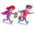Superhero Trick or Treaters