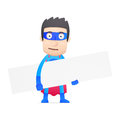 Superhero in various poses for use advertising presentations brochures blogs documents and forms etc Royalty Free Stock Photo