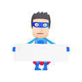 Superhero in various poses for use advertising presentations brochures blogs documents and forms etc Stock Photos