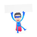Superhero in various poses for use advertising presentations brochures blogs documents and forms etc Royalty Free Stock Image