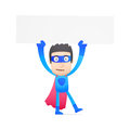 Superhero in various poses for use advertising presentations brochures blogs documents and forms etc Stock Photo