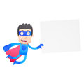 Superhero in various poses for use advertising presentations brochures blogs documents and forms etc Stock Images