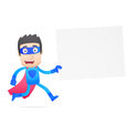 Superhero in various poses for use advertising presentations brochures blogs documents and forms etc Royalty Free Stock Photography