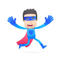 Superhero in various poses for use advertising presentations brochures blogs documents and forms etc Royalty Free Stock Images