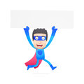 Superhero in various poses for use advertising presentations brochures blogs documents and forms etc Stock Image
