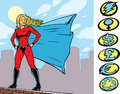 Superheroine Stance Stock Photos