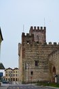 Superior castle in Marostica, Vicenza Royalty Free Stock Photo
