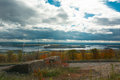 Superior wisconsin beautiful and duluth minnesota scenic overlook Stock Photo