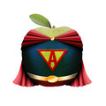 Superman apple Royalty Free Stock Photo