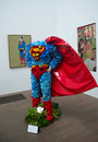 Superman.Bouquets to Art exhibition Royalty Free Stock Photo