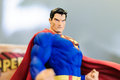 Superman iconic figurine of comic character on a sophisticated toy and collection shop Stock Photo