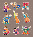 Superman stickers Royalty Free Stock Image