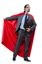 Superman   on the white Royalty Free Stock Images