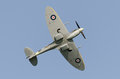 Supermarine spitfire in flight showing eliptical wing shape Royalty Free Stock Photography