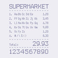 Supermarket bill font