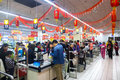 Supermarket in china january liuzhou people shopping a on chinese new year Royalty Free Stock Image