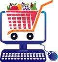 Supermarket computer billing logo