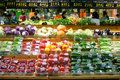 Supermarket fruits and vegetables Royalty Free Stock Photos