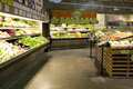 Supermarket grocery store with lots of organic vegetables and fruits central market mill creek washington Royalty Free Stock Photos