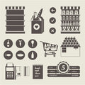 Supermarket icons vector icon set this is file of eps format Royalty Free Stock Photography