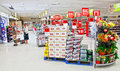 Supermarket people shopping Stock Images