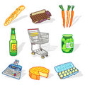 Supermarket set Royalty Free Stock Image