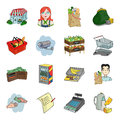 Supermarket set icons in cartoon style. Big collection of supermarket vector symbol stock illustration