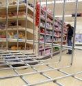 Supermarket shop basket trolley Royalty Free Stock Photo