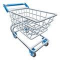 Supermarket shopping cart trolley Royalty Free Stock Photo