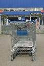 Supermarket trolley Royalty Free Stock Photo
