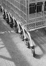 Supermarket trolleys Royalty Free Stock Photo
