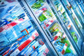 Supermarket various products in a Stock Photography